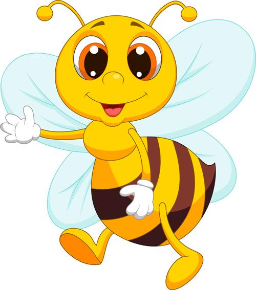 500x567 Cute Bee Cartoon Vector Illustration 12 Free Download