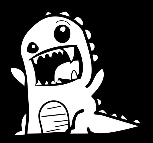 500x468 Dinosaur Cartoon Vector Public Domain Vectors
