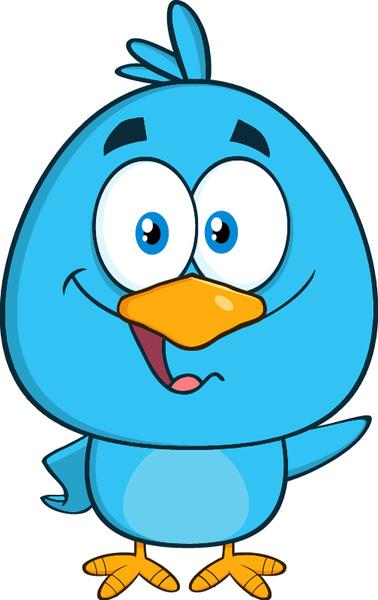 378x600 Funny Blue Bird Cartoon Vector Set Free Vector In Encapsulated
