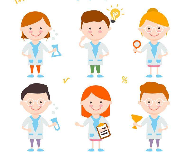 800x679 6 Cartoon Science Children Vector M