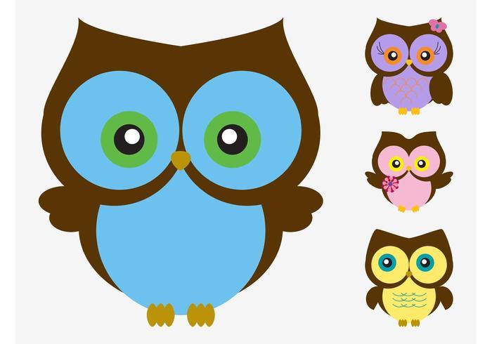 700x490 Cartoon Vector Owls