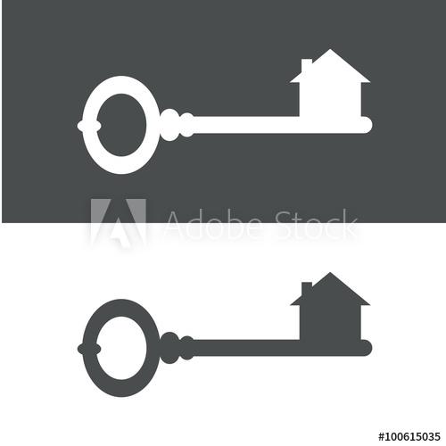 500x500 Icono Plano Llave Antigua Con Casa