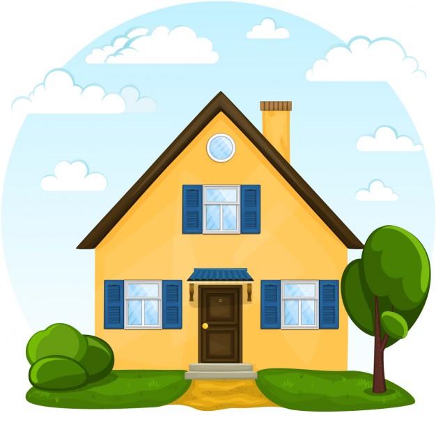 626x626 Vector Casa Bonito Dos Desenhos Animados Baixar Vetores