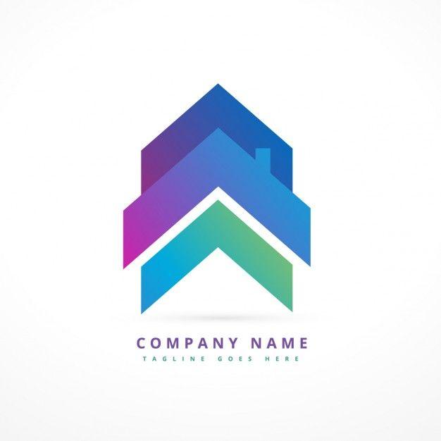 626x626 Logo De Empresa Con Una Casa Flecha Vector Gratis Graphic Design