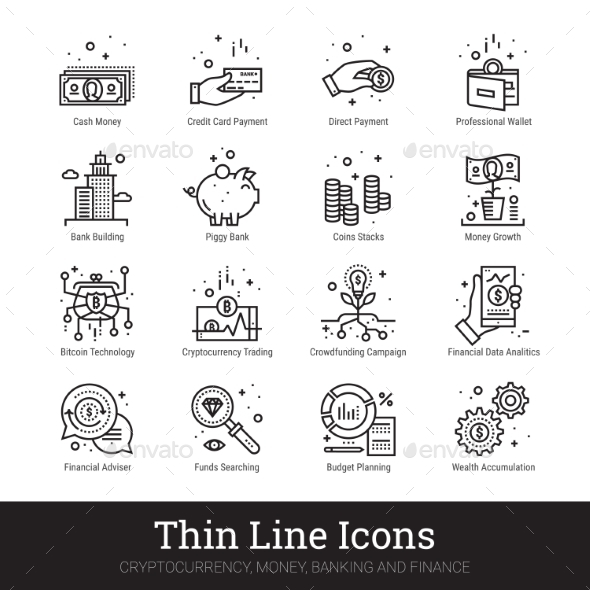 590x590 Money, Cryptocurrency, Finance Linear Vector Icons By Nubenamo