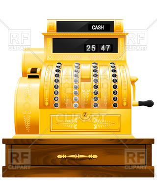 320x400 Antique Cash Register Vector Image Vector Artwork Of Business