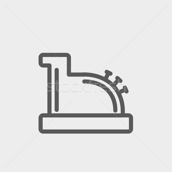 600x600 Antique Cash Register Thin Line Icon Vector Illustration Andrei