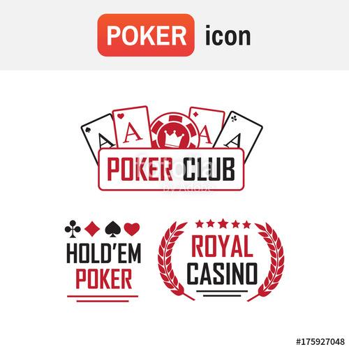 500x500 Logo Poker Casino. Poker Club And Casino Vector Sign Set Stock