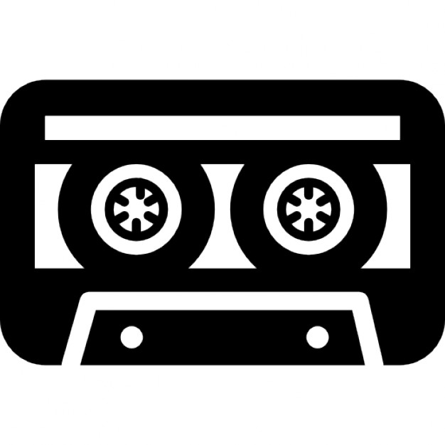 626x626 Cassette Tape Variant With White Details Icons Free Download