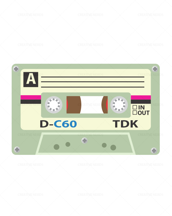 590x742 Cassette Tape Vector Illustration Premium Creative Nerds