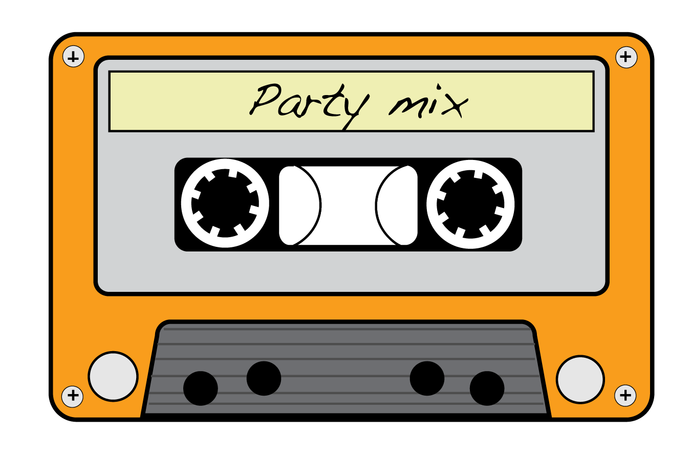 1350x900 Neon Clipart Cassette Tape