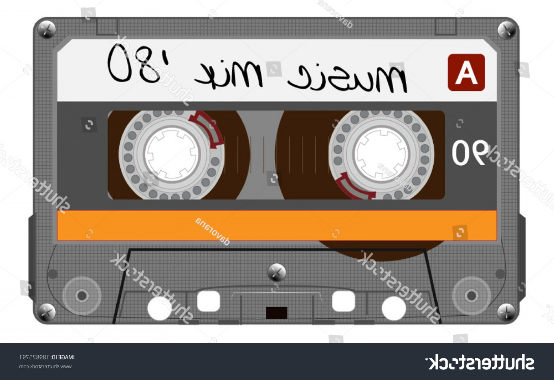 1800x1234 Orange Musiccasette Cassette Tape Vector Art Shopatcloth