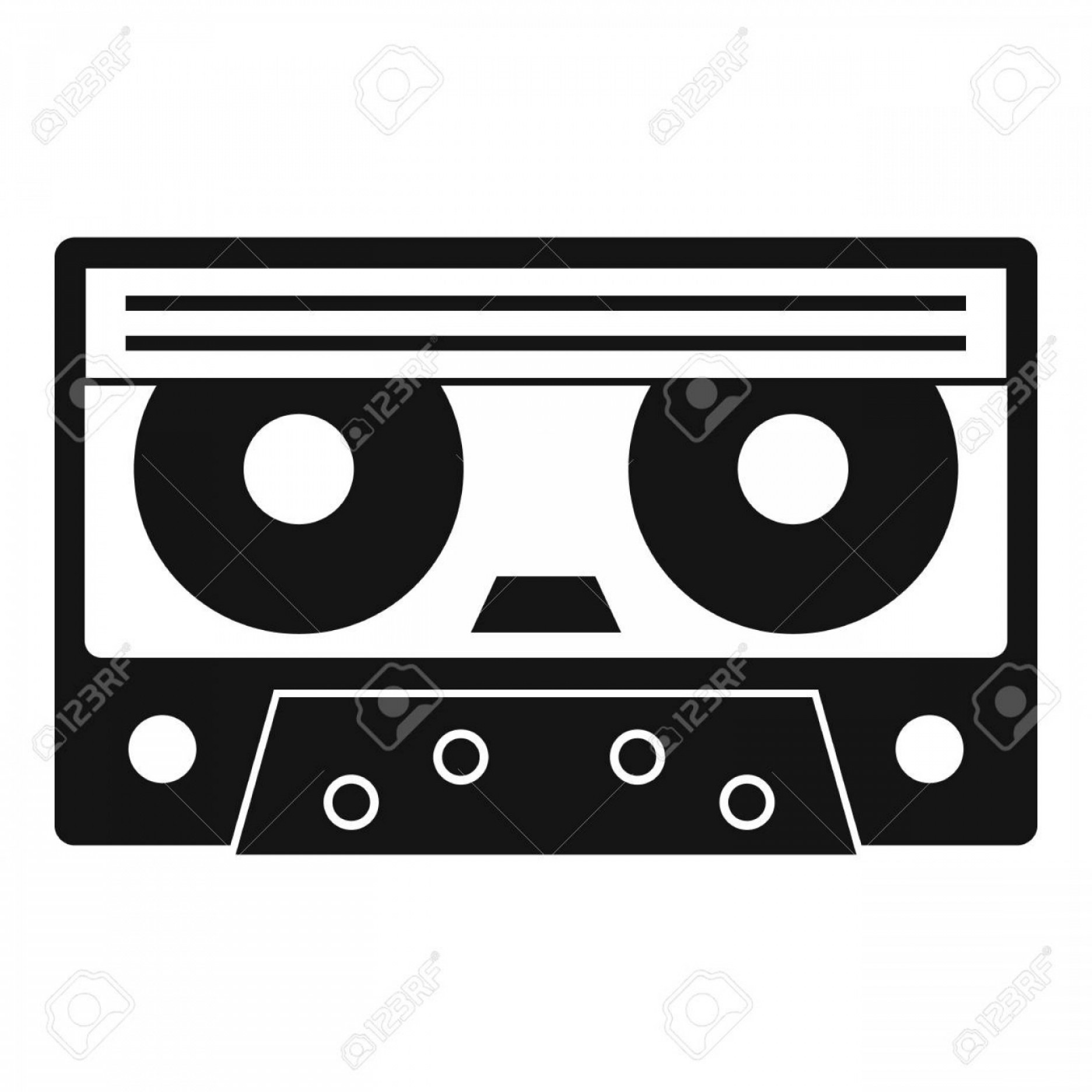 1872x1872 Photostock Vector Audio Cassette Tape Icon Simple Illustration Of