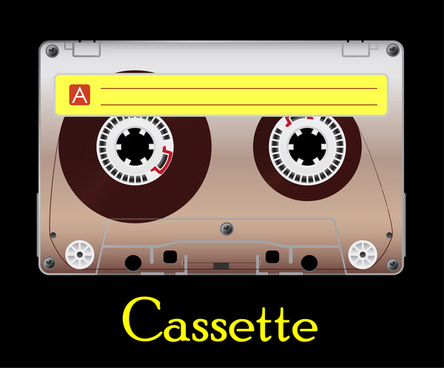 444x368 Vector Cassette Tape Free Vector Download (281 Free Vector) For