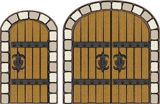 512x335 Castle Clipart Doors Cute Borders, Vectors, Animated, Black And