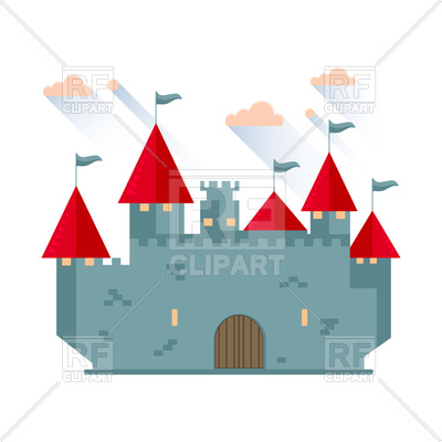 400x400 Cartoon Fairy Tale Castle Tower Icon Vector Image Vector Artwork