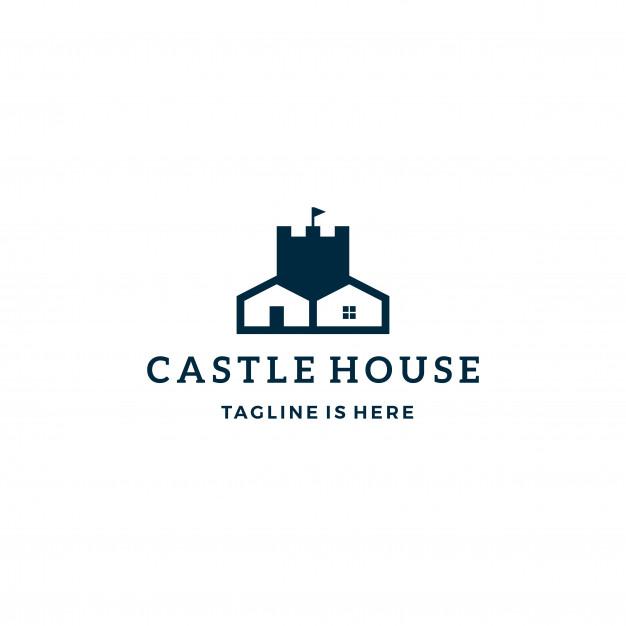 626x626 Castle House Real Estate Vector Logo Icon Template Vector