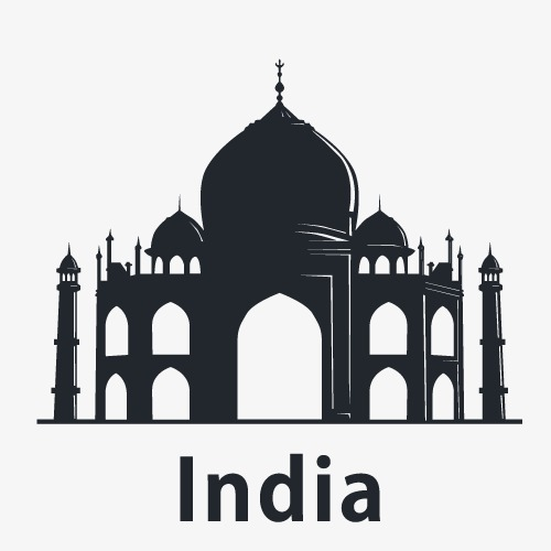 500x500 Vector Indian Architecture, Indian Architecture, Castle, Tower Png