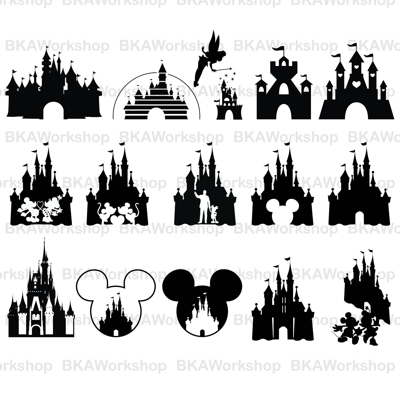 3000x3000 Disney Castle Svg Disney Castle Vector Disney Castle Etsy