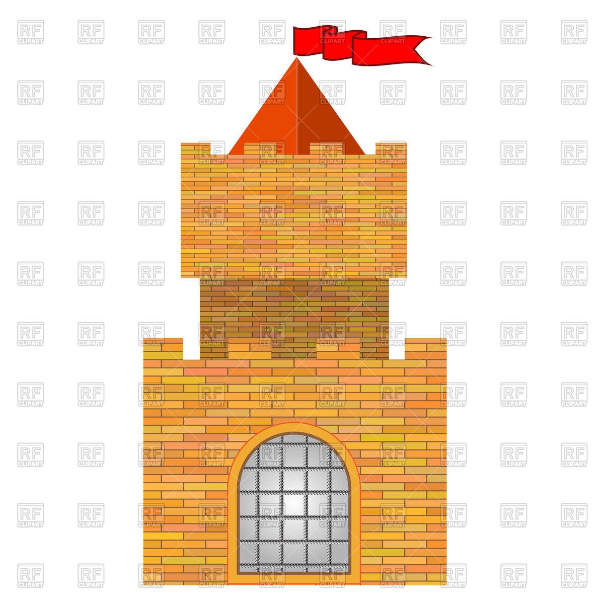 1200x1200 Old Brick Castle Vector Image Vector Artwork Of Architecture