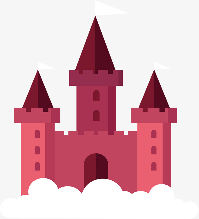 650x715 Purple Red Fairy Castle, Castle Vector, Vector Png, Castle Png And