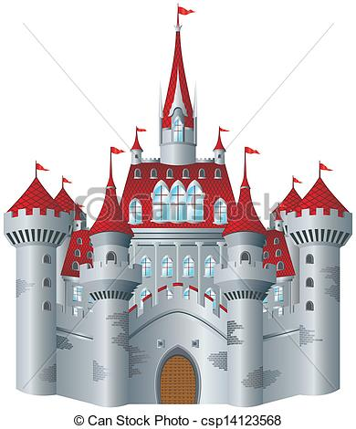 390x470 Fairy Tale Castle On White Background.