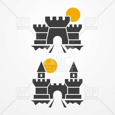 400x400 Ancient Castle Icons Vector Image Vector Artwork Of Architecture