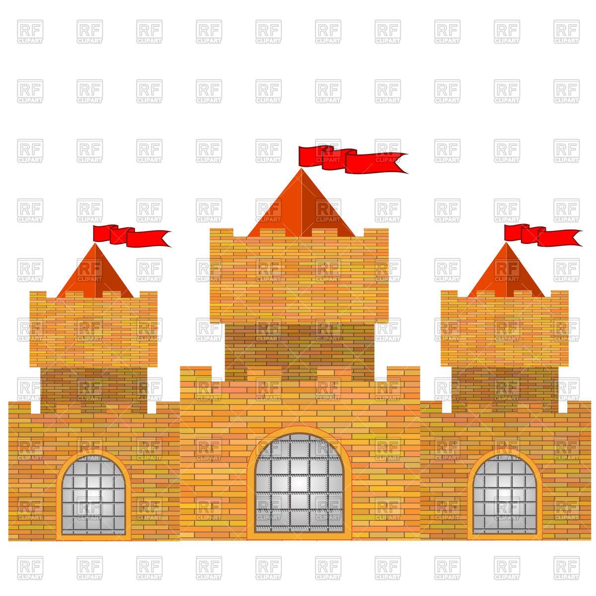 1200x1200 Red Brick Castle Vector Image Vector Artwork Of Architecture