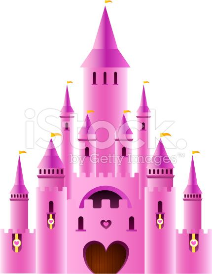 430x556 Vector Illustration Of A Fairy Tale Princess Castle. In 2018