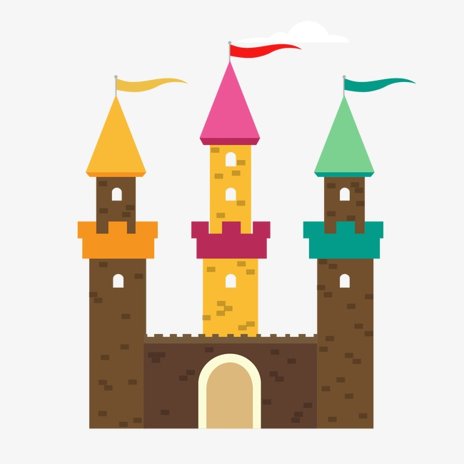 650x650 Cartoon Fairy Tale Castle, Cartoon Vector, Castle Vector, Castle