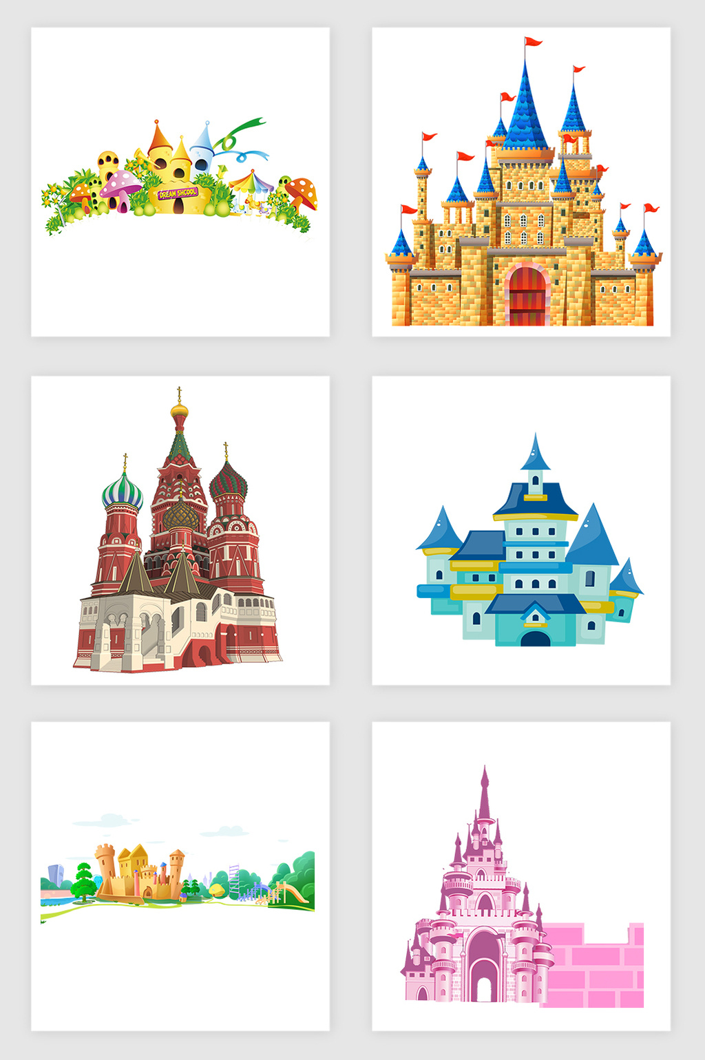 1024x1540 Cartoon Creative Castle Vector Element Free Download Pikbest