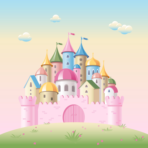 500x500 Colored Kids Castles Vector Free Download