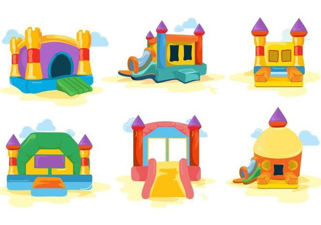 632x443 Free Colorfull Bounce House And Castle Vector Free Vector Download