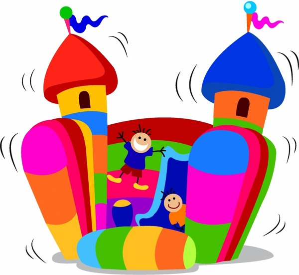 600x551 Jumping Castle Free Vector In Adobe Illustrator Ai ( .ai