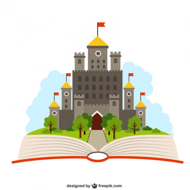 626x626 Open Book With A Castle Vector Free Download