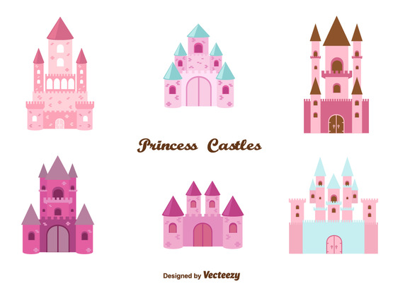 572x412 Princess Castle Set Vector Free Vector Download In .ai, .eps