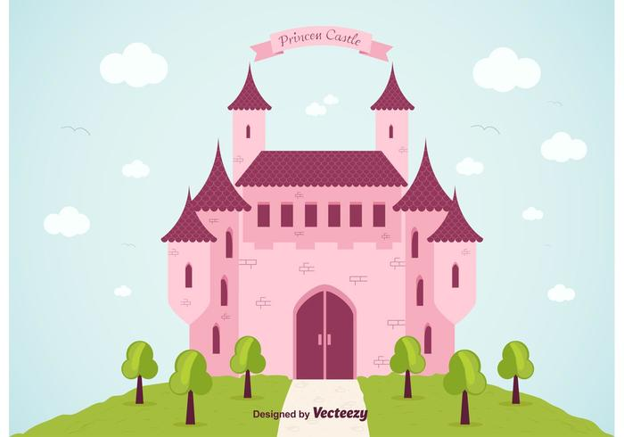 700x490 Princess Castle Vector Background