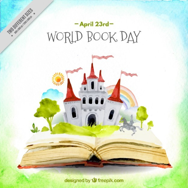 626x626 Ai] Watercolor Open Book With A Castle Background Vector Free