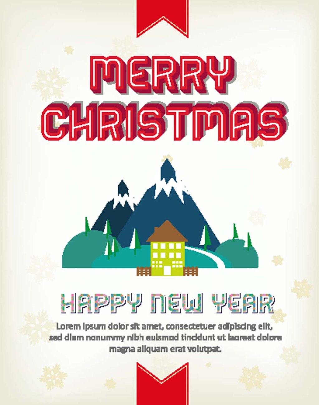 1024x1298 Cartoon Christmas Card Castle Vector Free Download Eps Files