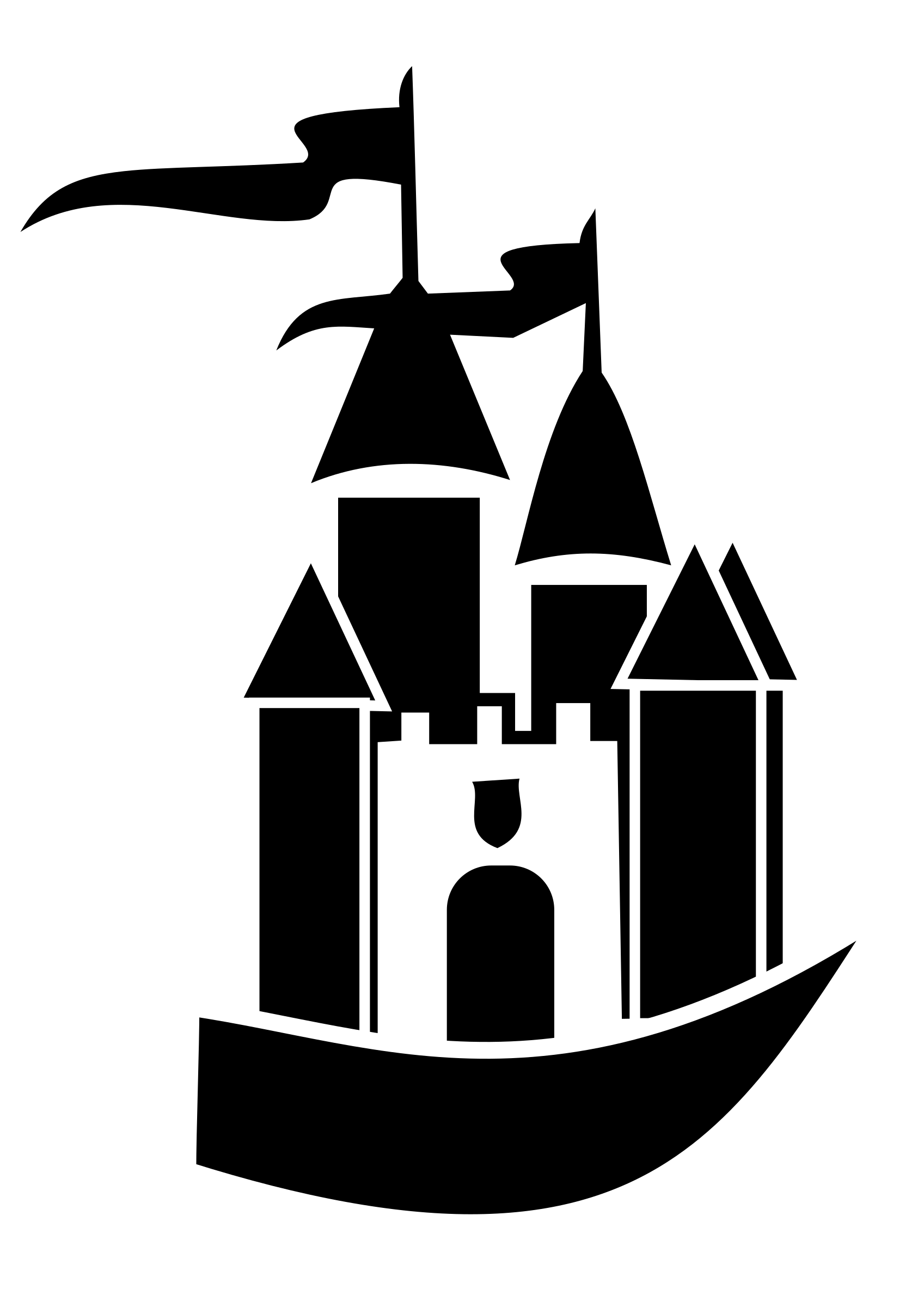 1697x2400 Castle Of Time Vector Clipart Image