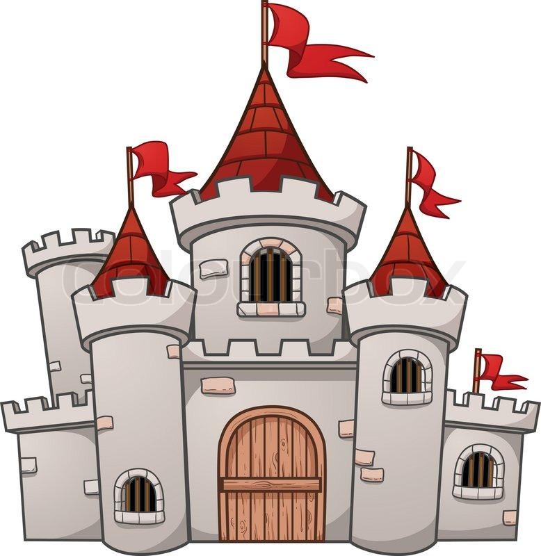 778x800 Cute Cartoon Castle. Vector Illustration With Simple Gradients