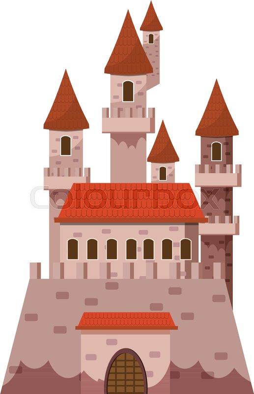 517x800 Fairytale Castle Icon. Cartoon Illustration Of Castle Vector Icon