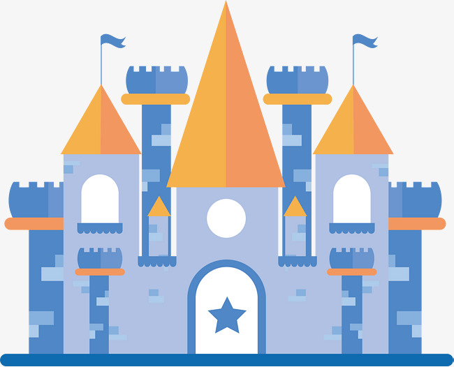 650x526 Blue Castle Vector, Hand, Blue, Castle Png And Vector For Free