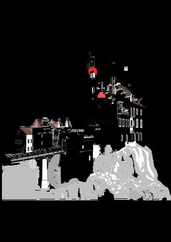 353x500 Lichtenstein Castle Vector Public Domain Vectors