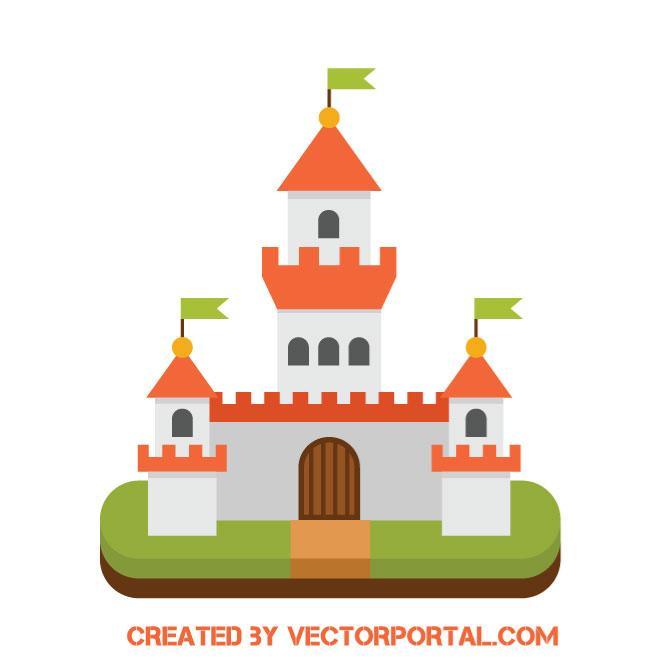 660x660 Medieval Castle Vector Icon