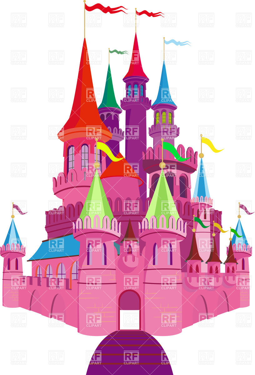 816x1200 Pink Fairy Tale Princess Castle Vector Image Vector Artwork Of