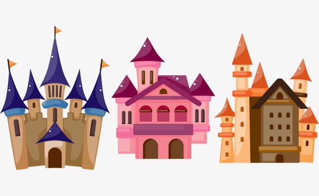 650x400 Cartoon Castle Png Vector Elements, Cartoon Vector, Castle Vector