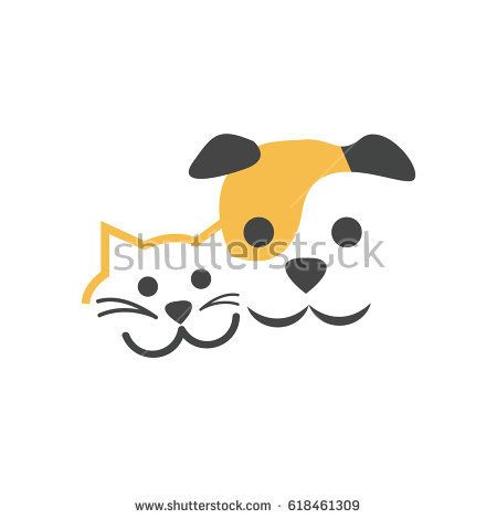 450x470 Cat And Dog Vector Illustration Dogs Dog