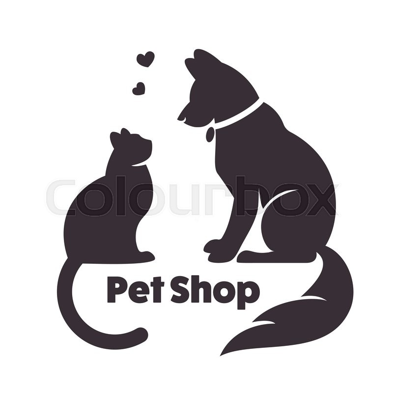 800x800 Cat And Dog Vector Signs And Logo. Vector Logo For Veterinary