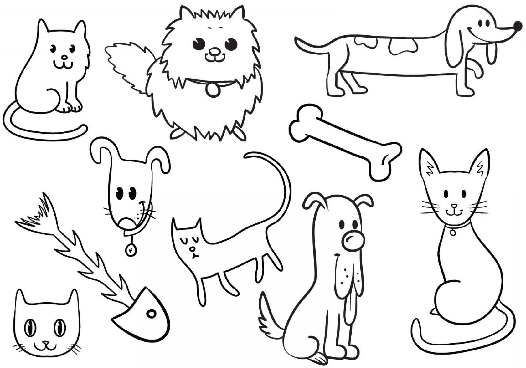 1680x1176 Cute Cat And Dog Vectors Shopatcloth